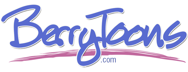 Berrytoons logo with swash