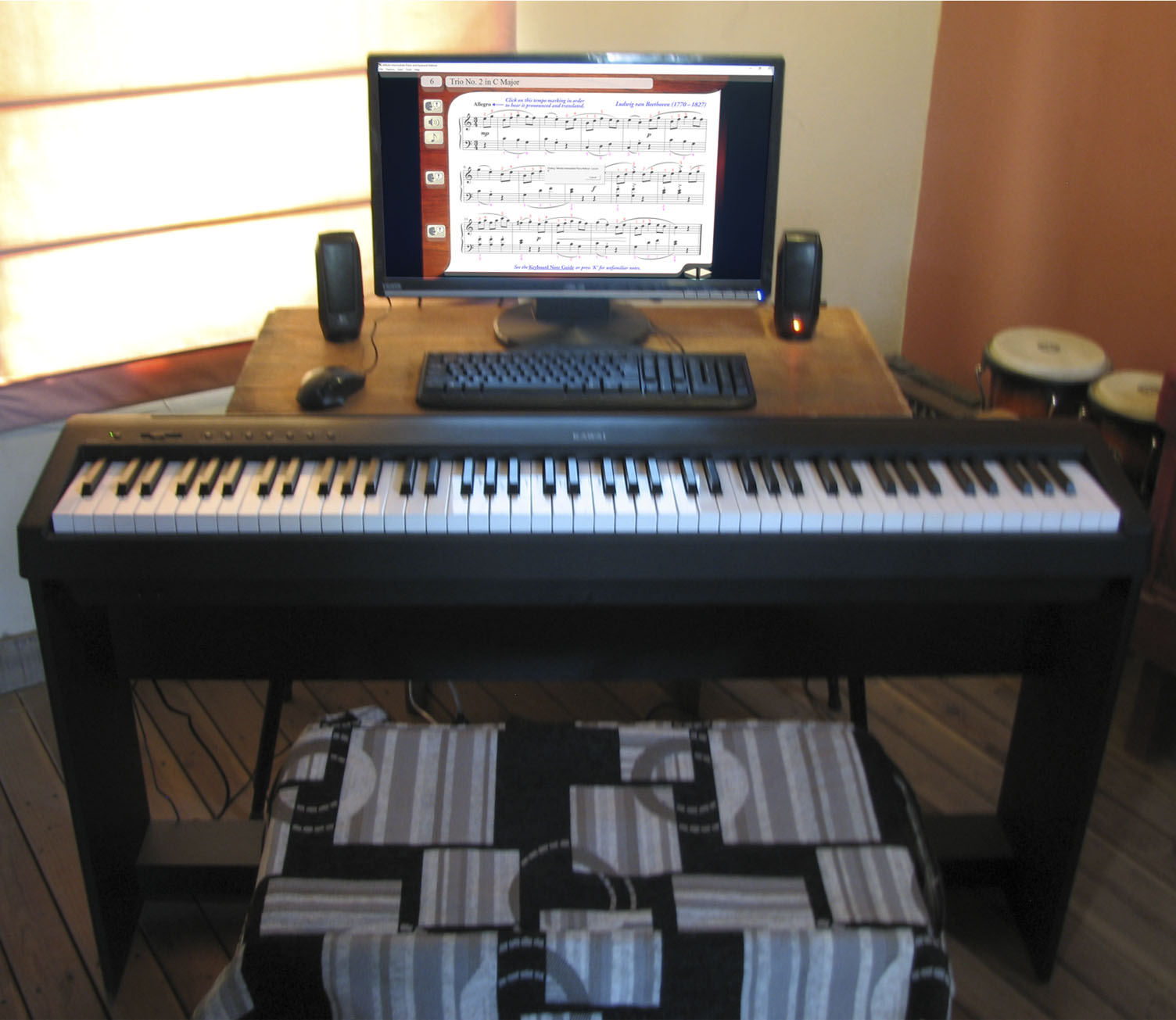 Piano workstation