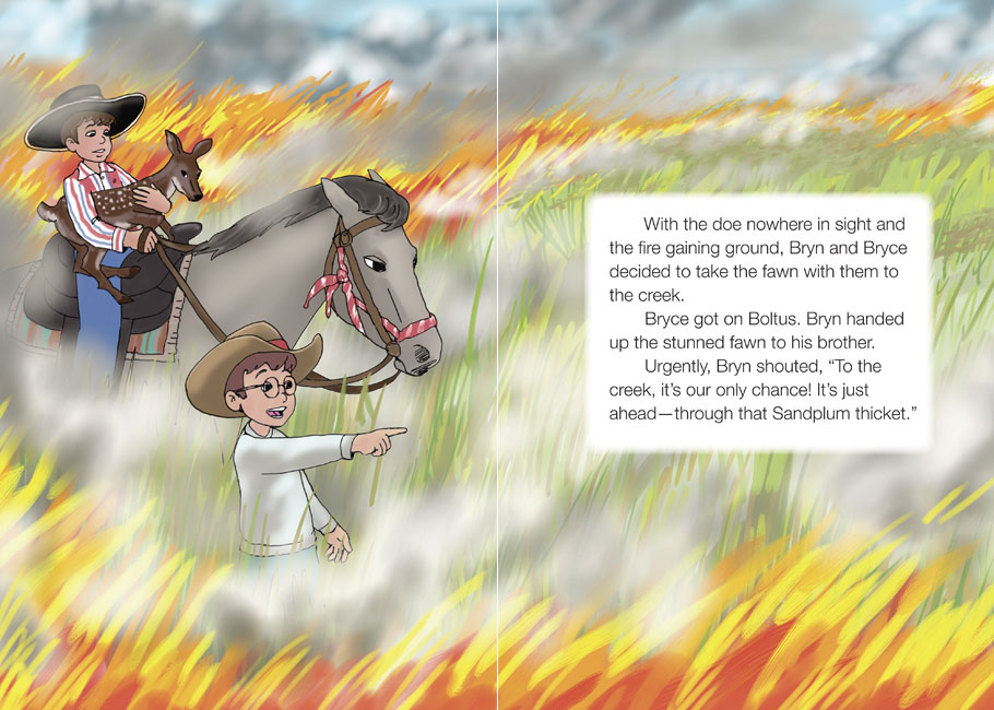 Race the Wildfire - sample spread